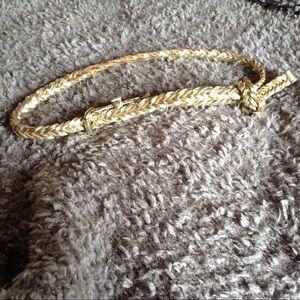 Metallic leather belt
